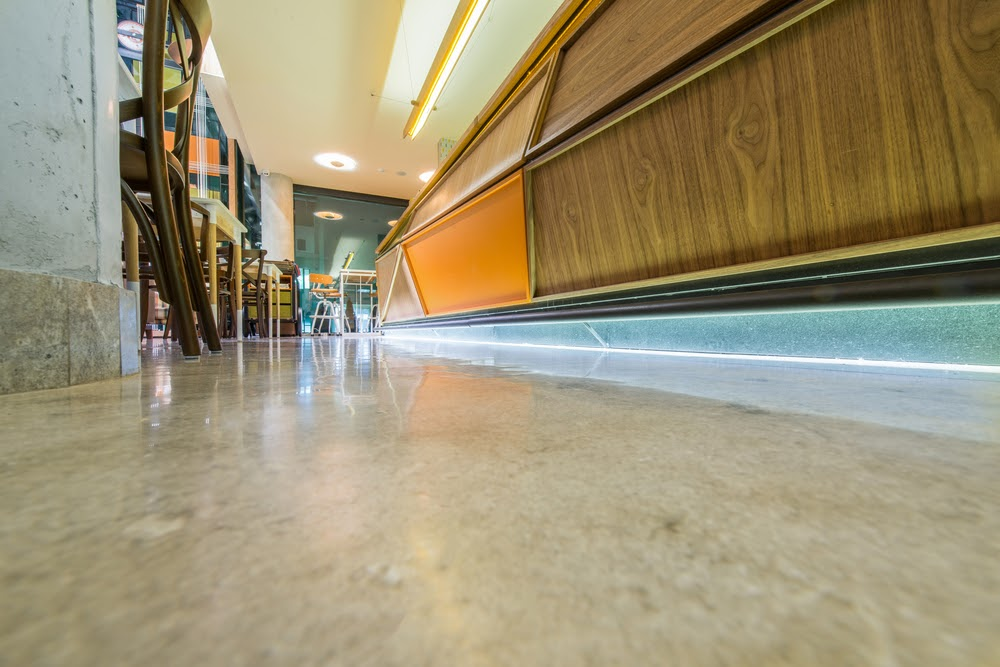 Restaurant With Polished Concrete Flooring