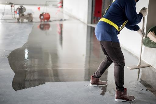Applying Polish to Concrete Flooring